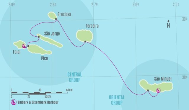 Azores sailing - Central Oriental Group Chart