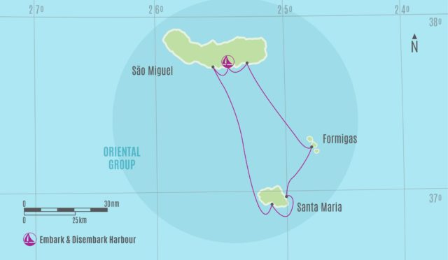 Azores Oriental Group Chart Route